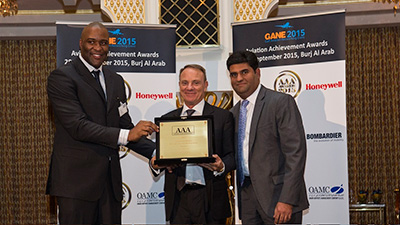 Empire Aviation Group wins Service Achievement Award at the Gulf Aviation Networking Event 2015